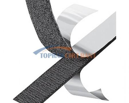 20mm Width Adhesive Hook & Loop Black Color Roll