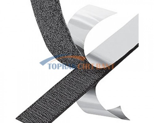 50mm Width Adhesive Hook & Loop Black Color Roll