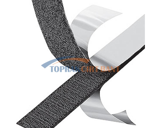 20mm Width Adhesive Hook & Loop Black Color Roll