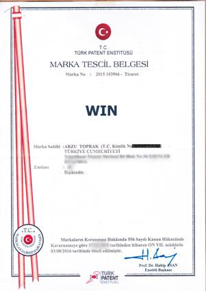 WIN MARKA TESCİL